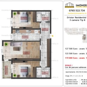 3 camere Dristor Residential 2 tip b