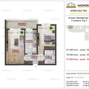 2 camere Dristor residential 2 tip c