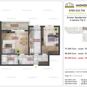 2 camere Dristor Residential 2 tip g