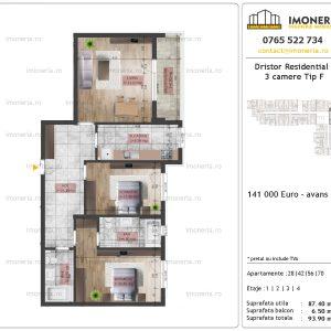 Apartamente de vanzare Dristor Residential 2 -3 camere tip F