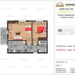 apartament 2 camere Dristor Residential 3 tip g
