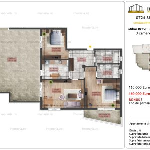 apartament 3 camere Mihai Bravu Residence 10 tip C