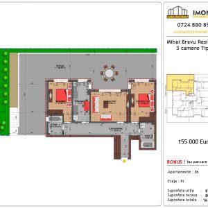 Apartament 3 camere mihai bravu residence 8