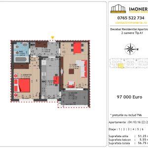 Apartamente de vanzare Decebal Residential Apartments -2 camere tip A1