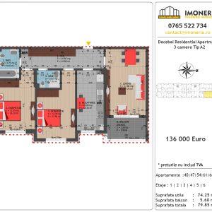 Apartamente de vanzare Decebal Residential Apartments -3 camere tip A2