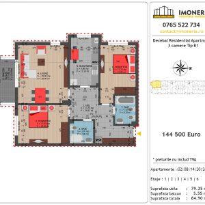Apartamente de vanzare Decebal Residential Apartments -3 camere tip B1