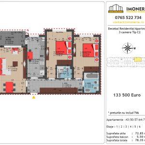 Apartamente de vanzare Decebal Residential Apartments -3 camere tip C2