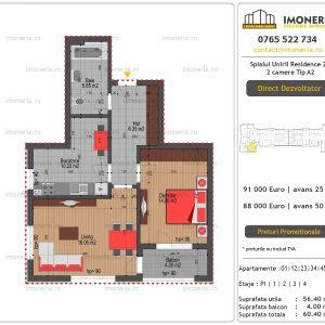 Apartamente-de-vanzare-Splaiul-Unirii-Residence-2-2-camere-tip-A2