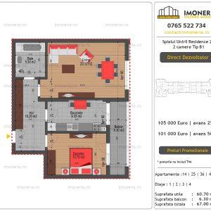 Apartamente-de-vanzare-Splaiul-Unirii-Residence-2-2-camere-tip-B1