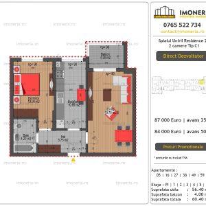 Apartamente-de-vanzare-Splaiul-Unirii-Residence-2-2-camere-tip-C1