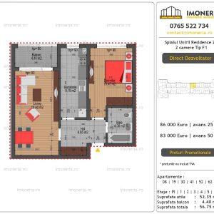 Apartamente-de-vanzare-Splaiul-Unirii-Residence-2-2-camere-tip-F1