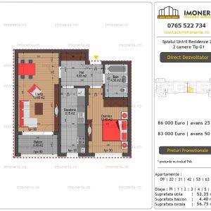 Apartamente-de-vanzare-Splaiul-Unirii-Residence-2-2-camere-tip-G1