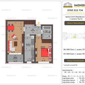 Apartamente-de-vanzare-Splaiul-Unirii-Residence-2-2-camere-tip-G2