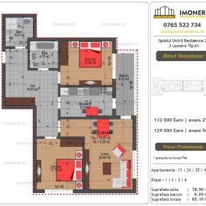 Apartamente-de-vanzare-Splaiul-Unirii-Residence-2-3-camere-tip-A1