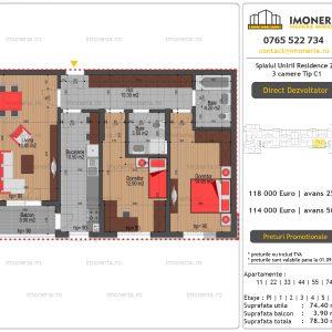 Apartamente-de-vanzare-Splaiul-Unirii-Residence-2-3-camere-tip-C1